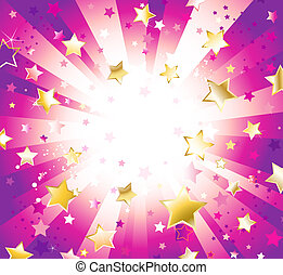 Radiant Purple Background with Stars