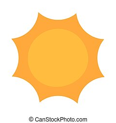 radiant sun on white background
