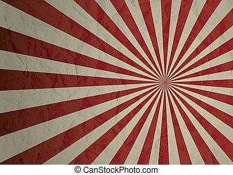 radiate crinkled - Dark red and cream crimpled illustrated...