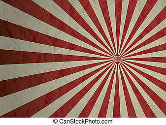 radiate crinkled - Dark red and cream crimpled illustrated ...