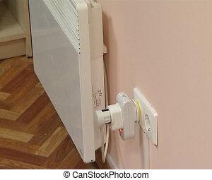radiateur, électrique, mètre