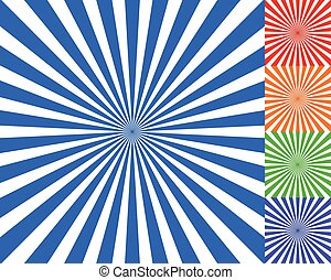 Radiating, converging lines, rays background. Known as...