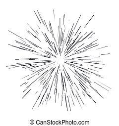 Radiating from the center of thinbeams, lines. Vector...