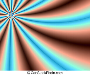 Radiating rays