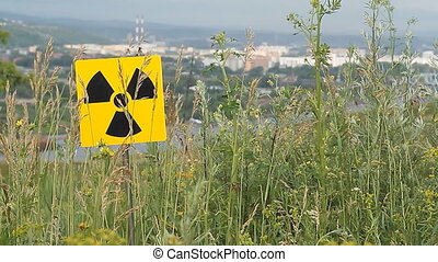 radiation 10 - Nuclear radiation or radioactivity warning...