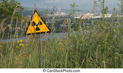 Nuclear radiation or radioactivity warning sign