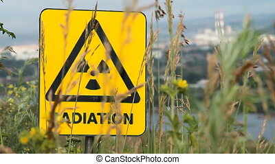 Nuclear radiation or radioactivity warning sign