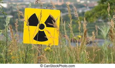 radiation 8 - Nuclear radiation or radioactivity warning ...