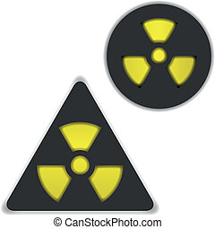 Radiation and bio hazard - Vector symbols of radiation and...