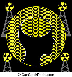 Radiation and Human Brain