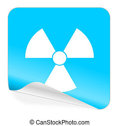 radiation blue sticker icon