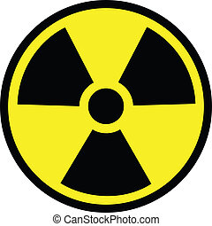 Radiation danger vector illustration