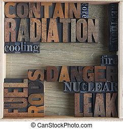 radiation danger words - words related to nuclear accidents
