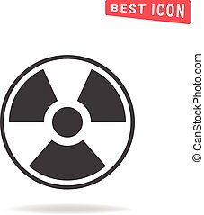Radiation Flat icon on white background. Simple vector illustration