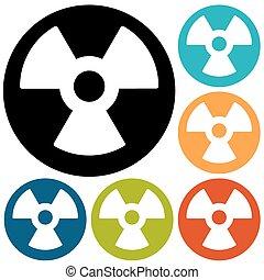 Radiation Flat style Icon