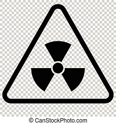 Radiation Hazard Sign. Isolated symbol