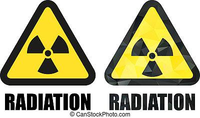 Radiation hazard sign set