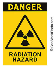 Radiation hazard symbol sign of radhaz threat alert icon,...