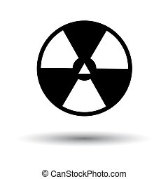 Radiation Icon. Black on White Background With Shadow. Vector Illustration.