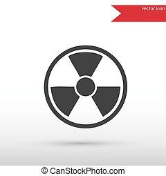 Radiation icon . Danger concept.
