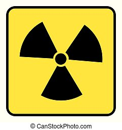 Radiation Icon drawing by Illustration. Radiation Icon in yellow background drawing by Illustration