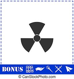 Radiation icon flat. Simple vector symbol and bonus icon