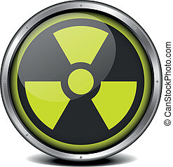 illustration of a metal framed radiation icon, eps10 vector