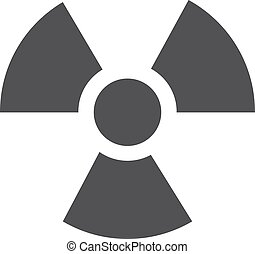 Radiation icon in black on a white background. Vector...