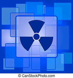 Radiation icon. Internet button on abstract background.