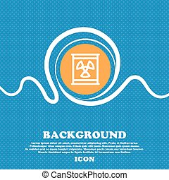 Radiation icon sign. Blue and white abstract background flecked with space for text and your design. Vector