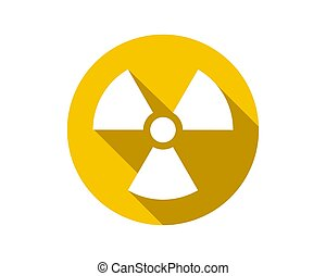 Radiation icon vector. Warning radioactive sign danger symbol.