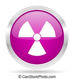 radiation pink modern web design glossy circle icon