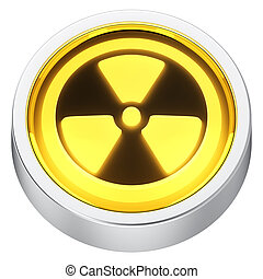Radiation round icon