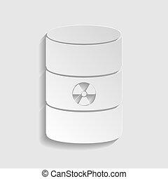 Radiation Round Sign. Paper style icon. Illustration.
