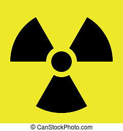 Radiation Sign - An abstract vector illustration of a ...