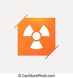 Radiation sign icon. Danger symbol.
