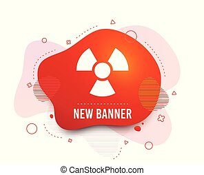Radiation sign icon. Danger symbol. Vector