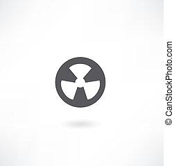 radiation sign icon