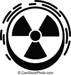 Radiation sign icon, simple style - Radiation sign icon....