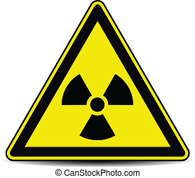 Radiation sign  - Radiation danger sign