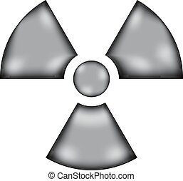 Radiation sign sign icon on white background. Vector illustration.