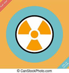 Radiation sign - vector illustration.