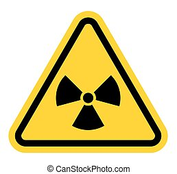 Vector illustration of the radiation sign on a triangle