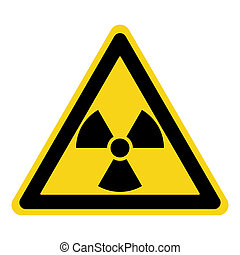radiation sign yellow