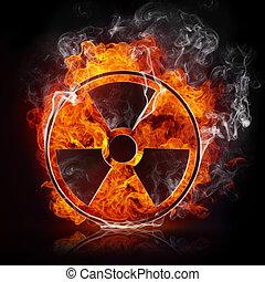 radiation, signe