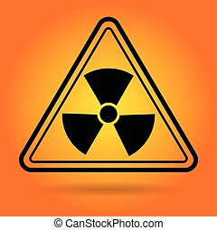 radiation, signe, sécurité, icône