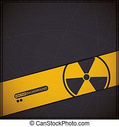 radiation symbol - Background with radiation symbol
