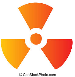 Radiation symbol - Illustration of radiation hazard warning ...