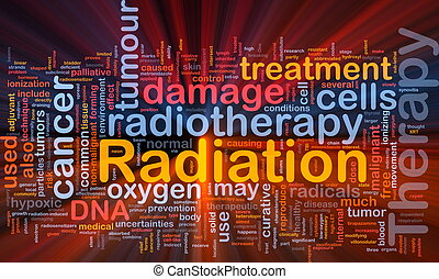 Radiation therapy background concept glowing - Background ...