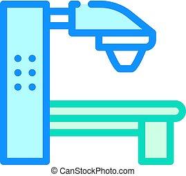 radiation therapy machine color icon vector. radiation therapy machine sign. isolated symbol illustration